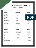 Jadwal    Mata   Pelajaran    Kelas    VII.docx
