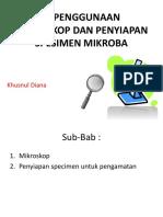 3. Penggunaan Mikroskop Dan Penyiapan Spesimen Mikroba