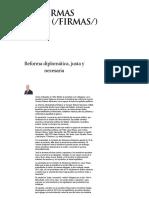 20-03-18 Reforma diplomática, justa y necesaria - Grupo Milenio