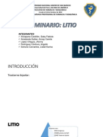 Seminario Farmacocinética Clínica LITIO