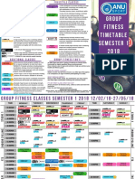 Group Fitness Timetable Semester 1 2018