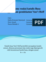 Mekanisme Reaksi Katalis Basa Van't Hoff Protolitik