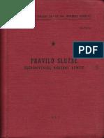 Pravilo Sluzbe Jugoslovenske Narodne Armije 1957
