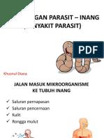 9. Hubungan Parasit – Inang (Penyakit Parasit)