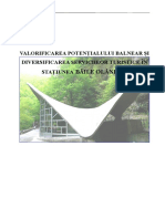 Valorificarea Potentialului Balnear Si Diversificarea Serviciilor Turistice in Statiunea Baile Olanesti