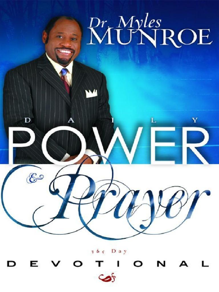 Daily Power and Prayer Devotion - Myles Munroe   Prayer