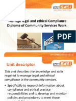 1. Introduction to Manage Legal and Ethical Compliance