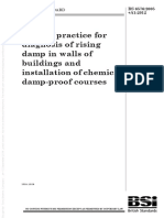 BS 65762005 Plus A1 2012 Code of Practice for Diagnosing for Rising Damp in Walls of Buildings and Inserting a Chemical DPC Course