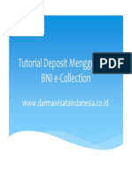 Panduan Deposit BNIe Collection Web
