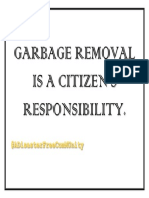 Garbage Removal is a Citizen
