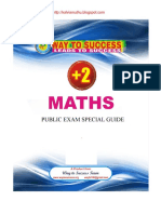 12 Th Maths Public Exam Special Way 2 Success Guide Em 1509198087869