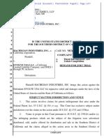 Hachigian Industries Inc. v. Evolve USA - Complaint