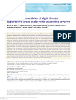 Structural Connectivity of right frontal hyperactive areas scales with stuttering activity