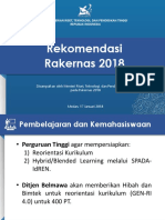 17. Materi Paparan Rekomendasi Rakernas 2018