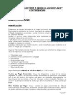 Examen de Auditoría a Deudas a Largo P. y Contingencias