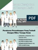 Pemeriksaan Kesehatan Personal Tenaga Kerja