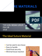 Suture Material and Suturing