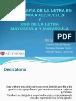 Ortografía de La Letra en Española Rev 1
