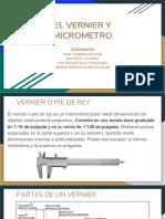 Micrometro y Pie de Rey