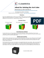 Beginners Method for Solving the 4x4 Cube