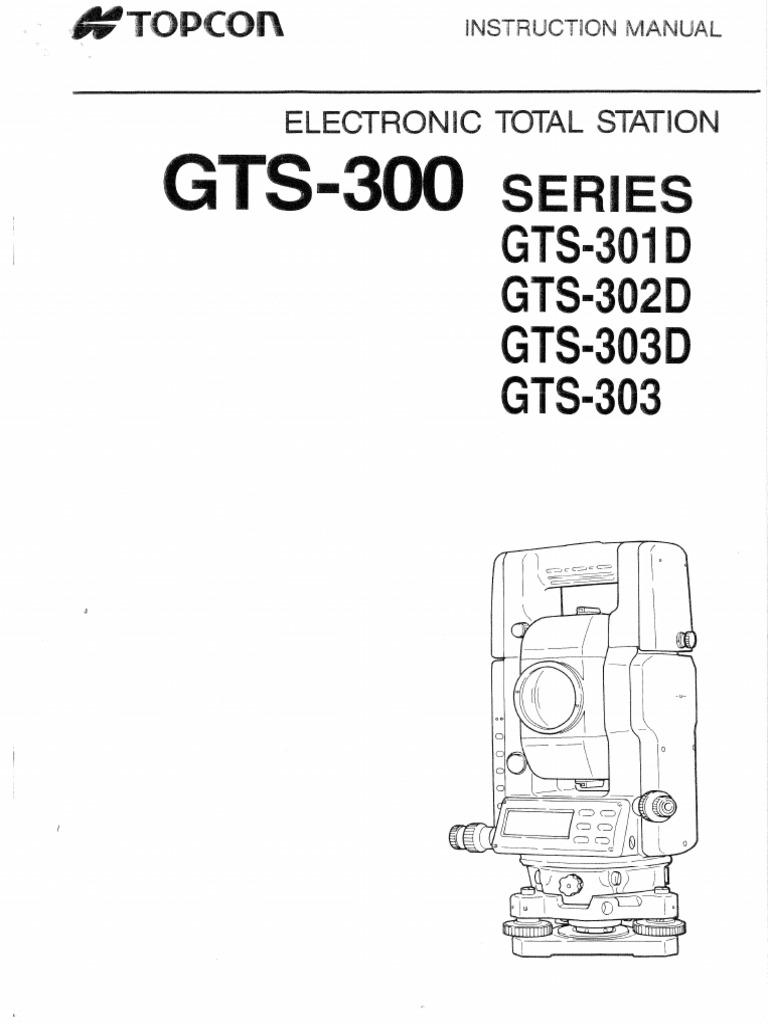 Topcon GTS-302 Manual