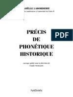 Précis de Phonétique Historique (LABORDERIE, 1994)