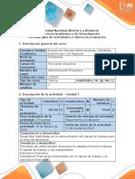 Guía de Actividades y Rúbrica de Evaluación - Paso 2 - Diagnóstico Financiero