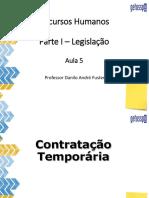 Legislação - Contratação temporária