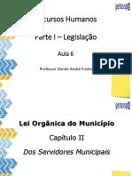 Legislação - Lei Orgânica do Município