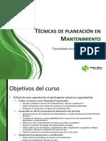 Tecnicas de Planeación en Mantenimiento(1)