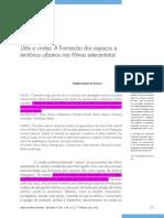 FONSECA, Cláudia Damasceno. Urbs e Civitas. a Formação Dos Espaços e Territórios Urbanos Nas Minas Setecentistas