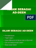 Topik 1 Islam Sebagai Aldeen