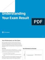 CFA Exam Result Explanation