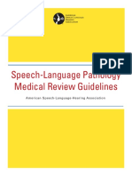 Slp Medical Review Guidelines