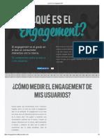 ¿Qué Es El Engagement?