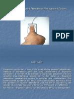 Biometric Fingerprint Attendance PPT1