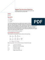 Help - Permanent Magnet Synchronous Machine __ Blocks (SimPowerSystems™)