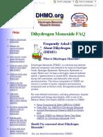 facts about dihydrogen monoxide