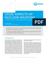 Legal Aspects of Nuclear Weapons