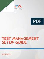 Panaya - TestManagementSetupGuide