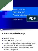 Latinski - imenice 4. i 5. Deklinacije