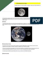Información de La Luna nivel primario