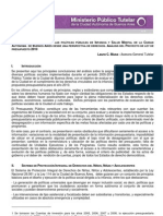 EVALUACIÓN Y MONITOREO DE LAS POLÍTICAS PÚBLICAS DE INFANCIA Y SALUD MENTAL