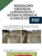 Diapositivas CONSIDERACIONES HIDROLOGICAS