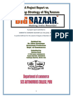 A project on marketing strategy of Big Bazaar