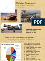 Colombia Export marketing mix
