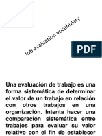 Job Evaluation Vocabulary