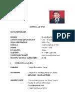 Curriculun Ing. Ricardo Alex Cortez Sánchez