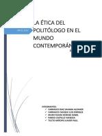 Etica Del Plitologo en El Mundo Contemporaneo