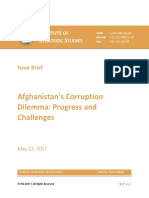Afganistan Cooruption's Dilemma Prospects and Challenges